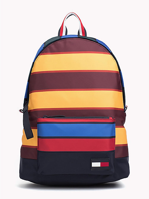 TOMMY HILFIGER Escape Multicolour Stripe Print Backpack - STRIPES - TOMMY HILFIGER Backpacks - main image