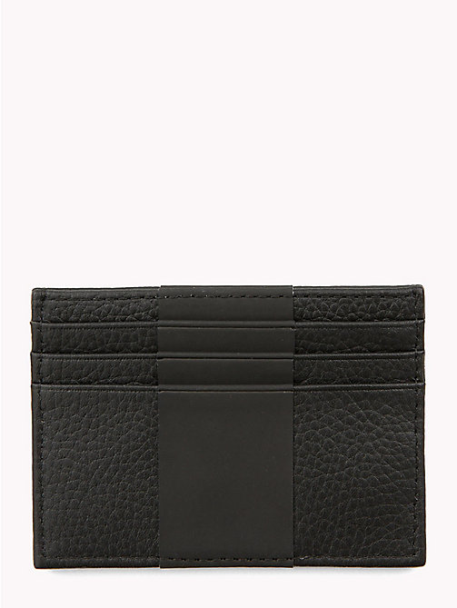 TOMMY HILFIGER Tommy Tape Leather Card Holder - BLACK - TOMMY HILFIGER Wallets & Keyrings - detail image 1