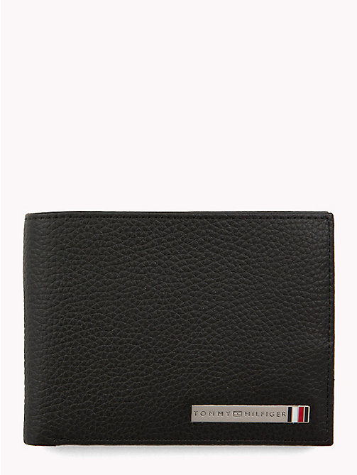 TOMMY HILFIGER Plaque Leather Wallet - BLACK - TOMMY HILFIGER Wallets & Keyrings - main image