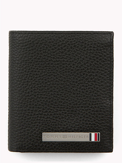TOMMY HILFIGER Plaque Tri-Fold Wallet - BLACK - TOMMY HILFIGER Wallets & Keyrings - main image