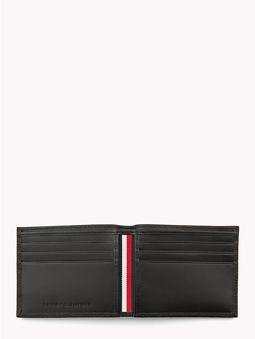 TOMMY HILFIGER Bi-Fold Leather Card Holder - BLACK - TOMMY HILFIGER Wallets & Keyrings - detail image 1
