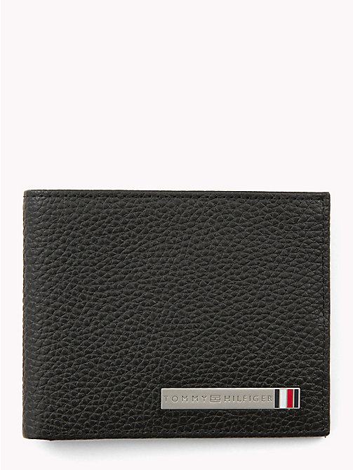 TOMMY HILFIGER Bi-Fold Leather Card Holder - BLACK - TOMMY HILFIGER Wallets & Keyrings - main image