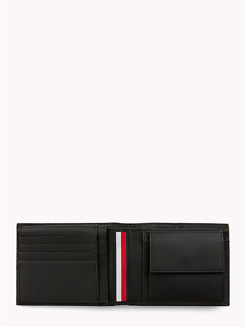 TOMMY HILFIGER Plaque Leather Card Wallet - BLACK - TOMMY HILFIGER Wallets & Keyrings - detail image 1