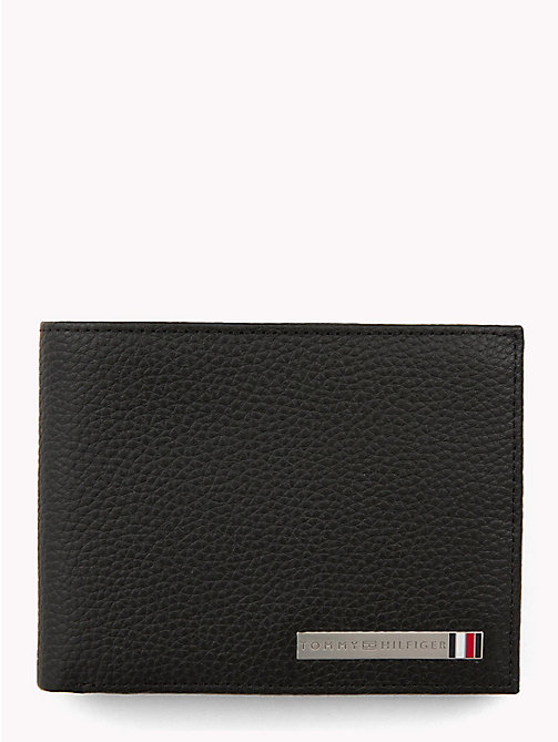 TOMMY HILFIGER Plaque Leather Card Wallet - BLACK - TOMMY HILFIGER Wallets & Keyrings - main image