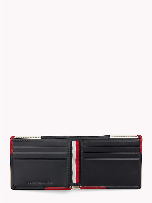 TOMMY HILFIGER Chevron Colour-Blocked Bi-Fold Card Wallet - CORPORATE - TOMMY HILFIGER Wallets & Keyrings - detail image 1