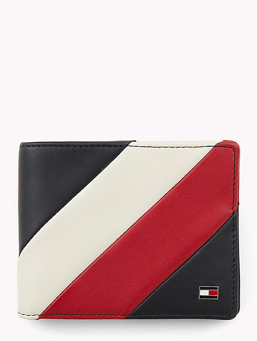 TOMMY HILFIGER Chevron Colour-Blocked Bi-Fold Card Wallet - CORPORATE - TOMMY HILFIGER Wallets & Keyrings - main image