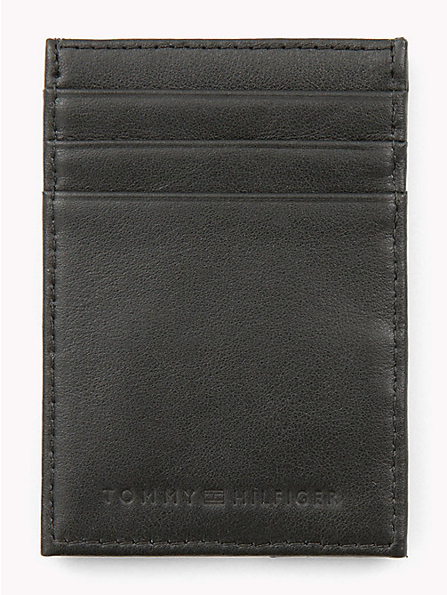 TOMMY HILFIGER Signature Leather Card Holder - BLACK - TOMMY HILFIGER Wallets & Keyrings - detail image 1