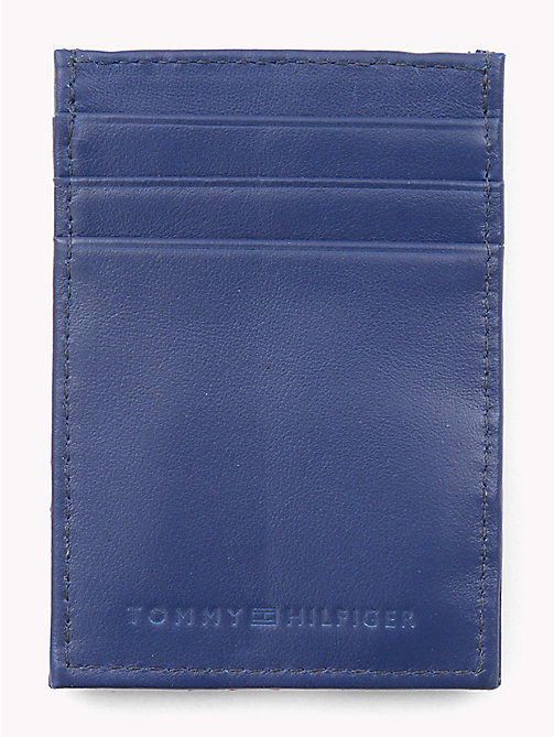 TOMMY HILFIGER Signature Leather Card Holder - SODALITE BLUE - TOMMY HILFIGER Wallets & Keyrings - detail image 1