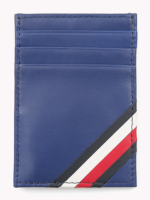 TOMMY HILFIGER Signature Leather Card Holder - SODALITE BLUE - TOMMY HILFIGER Wallets & Keyrings - main image
