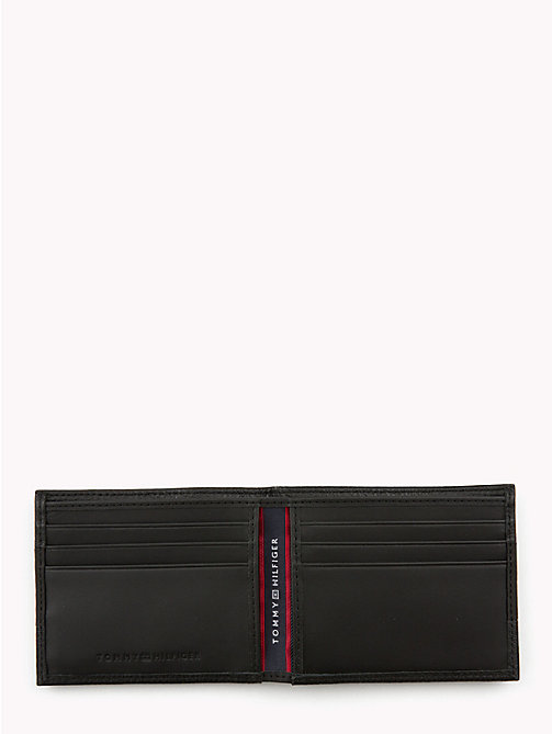 TOMMY HILFIGER Tommy Tape Compact Leather Wallet - BLACK - TOMMY HILFIGER Wallets & Keyrings - detail image 1