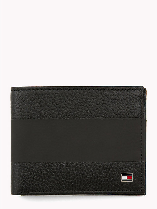 TOMMY HILFIGER Tommy Tape Compact Leather Wallet - BLACK - TOMMY HILFIGER Wallets & Keyrings - main image