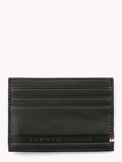 TOMMY HILFIGER Selvedge Embossed Credit Card Holder - BLACK - TOMMY HILFIGER Wallets & Keyrings - detail image 1