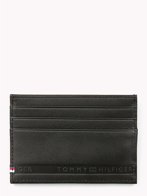 TOMMY HILFIGER Selvedge Embossed Credit Card Holder - BLACK - TOMMY HILFIGER Wallets & Keyrings - main image