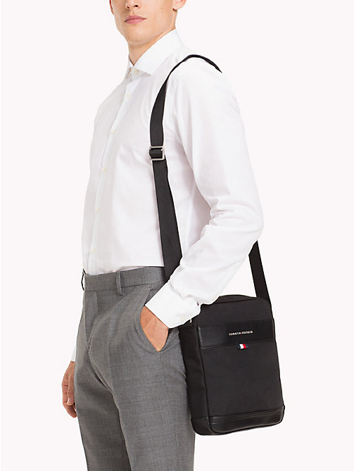 TOMMY HILFIGER Tailored Cross-Body Reporter Bag - BLACK - TOMMY HILFIGER Bags & Accessories - detail image 1