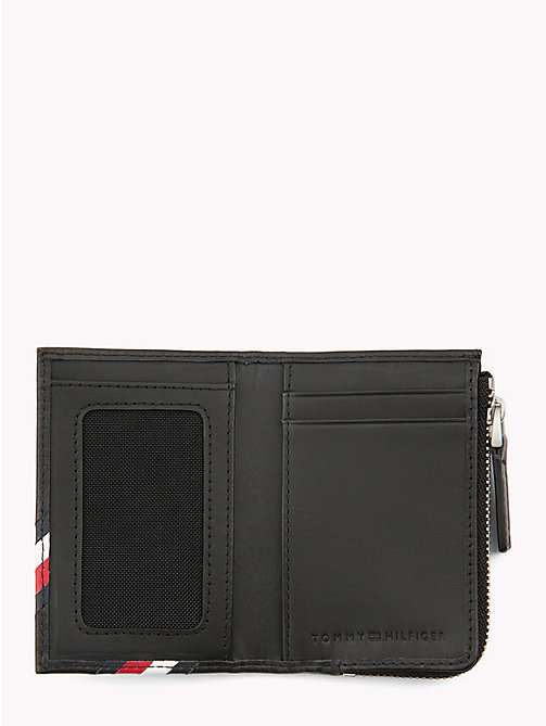 TOMMY HILFIGER Signature Leather ID and Coin Wallet - BLACK - TOMMY HILFIGER Wallets & Keyrings - detail image 1