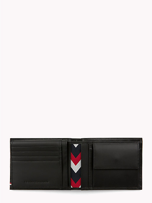 TOMMY HILFIGER Selvedge Embossed Leather Wallet - BLACK - TOMMY HILFIGER Wallets & Keyrings - detail image 1