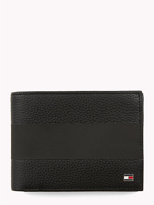TOMMY HILFIGER Tommy Tape Leather Wallet - BLACK - TOMMY HILFIGER NEW IN - main image