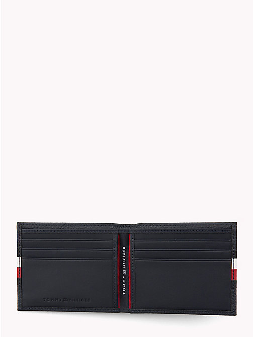 TOMMY HILFIGER Tommy Tape Texture Leather Cardholder - TOMMY NAVY - TOMMY HILFIGER Wallets & Keyrings - detail image 1