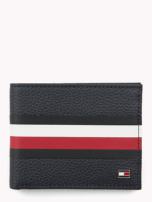 TOMMY HILFIGER Tommy Tape Texture Leather Cardholder - TOMMY NAVY - TOMMY HILFIGER Wallets & Keyrings - main image