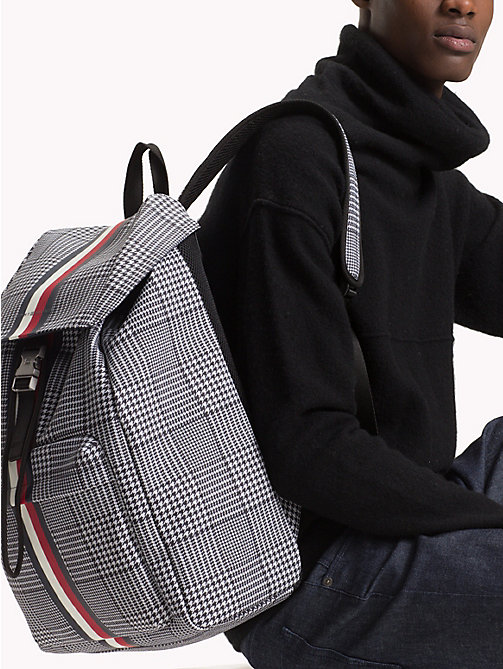 TOMMY HILFIGER Tommy Tape Check Backpack - PRINCE OF WALES - TOMMY HILFIGER Bags & Accessories - detail image 1