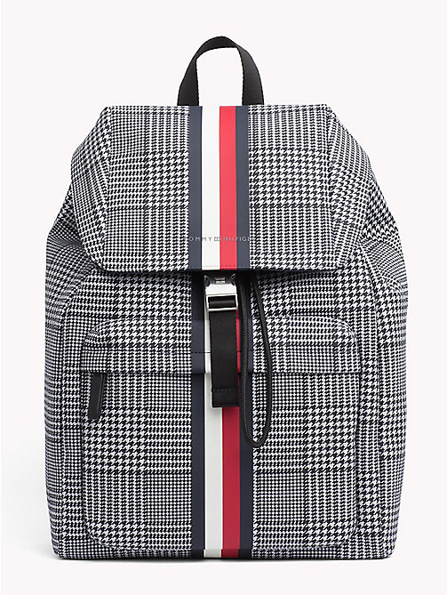 TOMMY HILFIGER Tommy Tape Check Backpack - PRINCE OF WALES - TOMMY HILFIGER NEW IN - main image