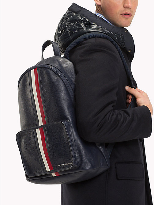 TOMMY HILFIGER Sac à dos en cuir Elevated - CORPORATE - TOMMY HILFIGER Sacs à dos - image détaillée 1