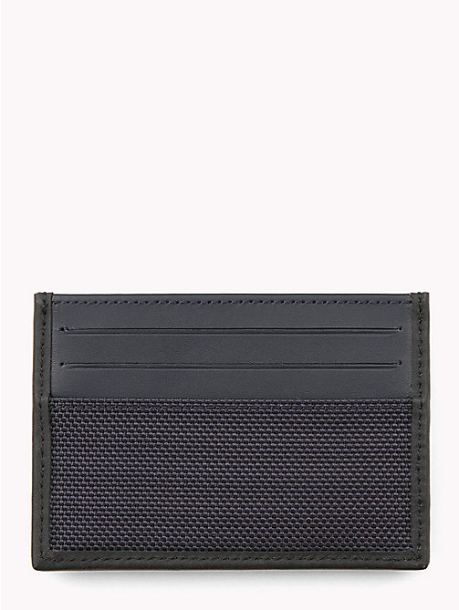 TOMMY HILFIGER Elevated Textured Card Holder - TOMMY NAVY - TOMMY HILFIGER Wallets & Keyrings - detail image 1