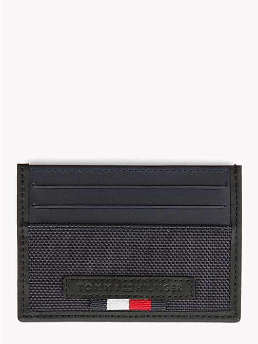 TOMMY HILFIGER Elevated Textured Card Holder - TOMMY NAVY - TOMMY HILFIGER Wallets & Keyrings - main image