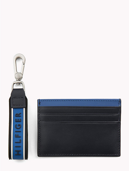 TOMMY HILFIGER Contrast Stripe Card Holder - BLUE MIX - TOMMY HILFIGER NEW IN - detail image 1