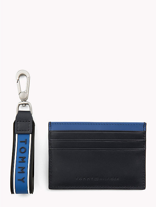 TOMMY HILFIGER Contrast Stripe Card Holder - BLUE MIX - TOMMY HILFIGER NEW IN - main image