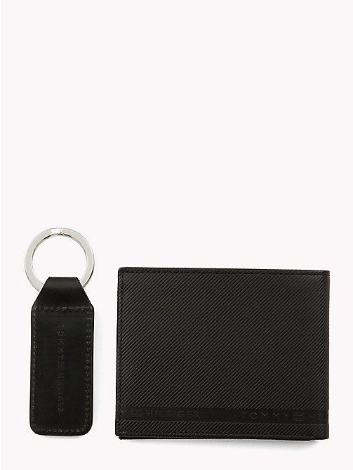 TOMMY HILFIGER Compact Logo Wallet and Key Fob - BLACK - TOMMY HILFIGER NEW IN - detail image 1