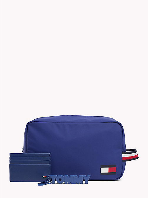 TOMMY HILFIGER 3-in-1 Wash Bag, Cardholder and Keyfob - SODALITE BLUE - TOMMY HILFIGER NEW IN - main image