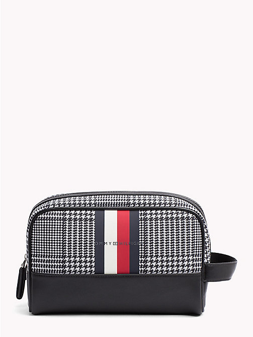 TOMMY HILFIGER Tommy Tape Check Washbag - PRINCE OF WALES - TOMMY HILFIGER Bags & Accessories - main image