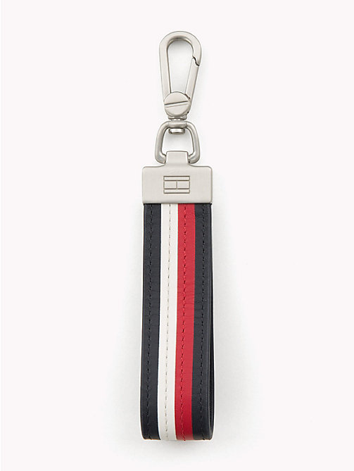 TOMMY HILFIGER Stripe Leather Lanyard Key Fob - CORPORATE - TOMMY HILFIGER Wallets & Keyrings - main image