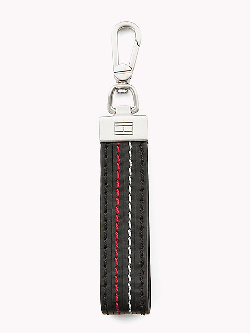 TOMMY HILFIGER Stripe Leather Lanyard Key Fob - STRIPE - TOMMY HILFIGER Wallets & Keyrings - main image