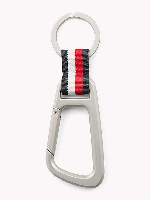 TOMMY HILFIGER Metallic Carabiner Key Ring - SILVER - TOMMY HILFIGER Wallets & Keyrings - main image