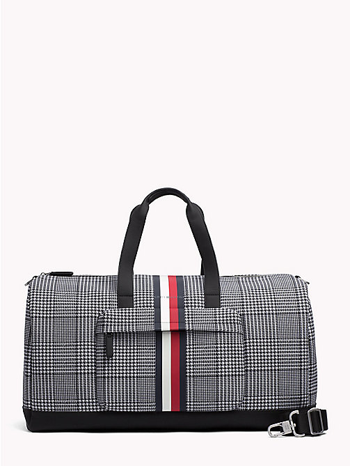 TOMMY HILFIGER Tommy Tape Check Duffle Bag - PRINCE OF WALES - TOMMY HILFIGER NEW IN - main image