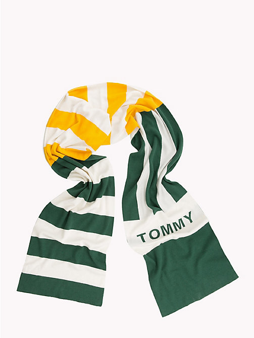 TOMMY JEANS Rugby Stripe Scarf - GREEN MIX - TOMMY JEANS Scarves - detail image 1