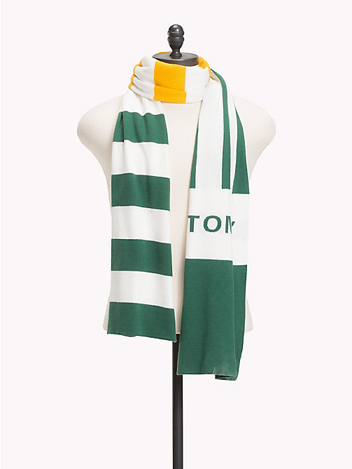 TOMMY JEANS Rugby Stripe Scarf - GREEN MIX - TOMMY JEANS Scarves - main image