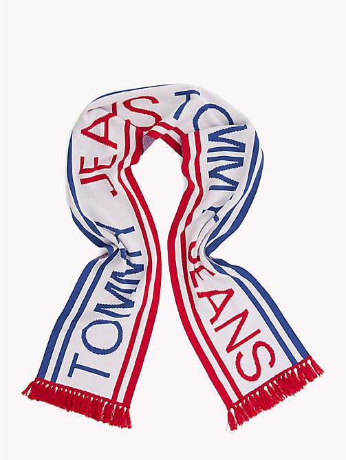 TOMMY JEANS Fringed Logo Scarf - CORPORATE - TOMMY JEANS Scarves - detail image 1
