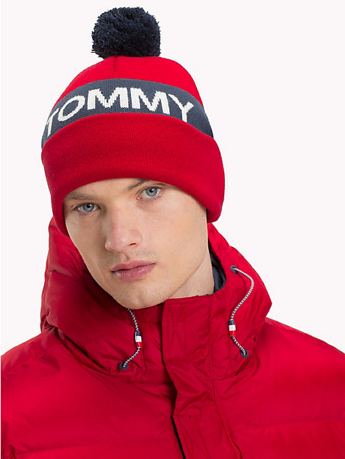 TOMMY JEANS Rugby Stripe Bobble Beanie - CORPORATE - TOMMY JEANS Winter Warmers - detail image 1