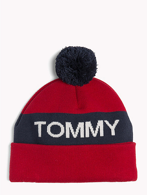 TOMMY JEANS Rugby Stripe Bobble Beanie - CORPORATE -  Winter Warmers - main image