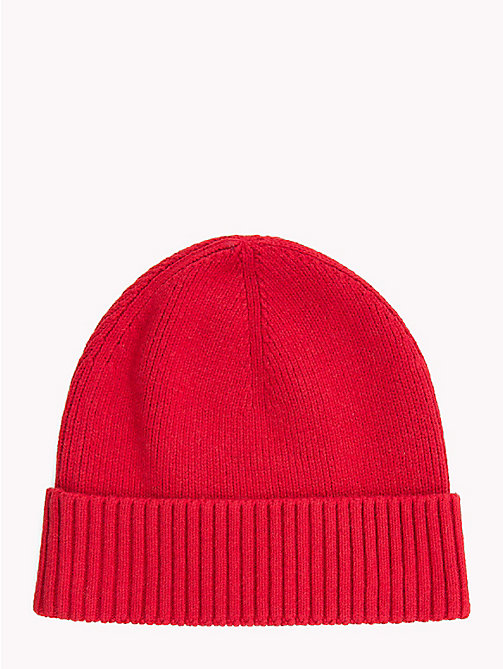 TOMMY HILFIGER Cotton Cashmere Beanie - TOMMY RED - TOMMY HILFIGER Hats - detail image 1