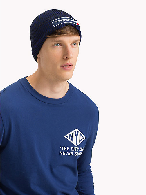 TOMMY HILFIGER Tommy Hilfiger Logo Beanie - TOMMY NAVY MIX -  Winter Warmers - detail image 1