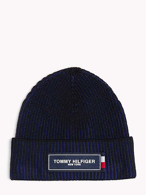 TOMMY HILFIGER Tommy Hilfiger Logo Beanie - TOMMY NAVY MIX - TOMMY HILFIGER Caps & Beanies - main image