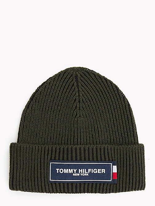 TOMMY HILFIGER Tommy Hilfiger Logo Beanie - ROSIN MIX - TOMMY HILFIGER Caps & Beanies - main image