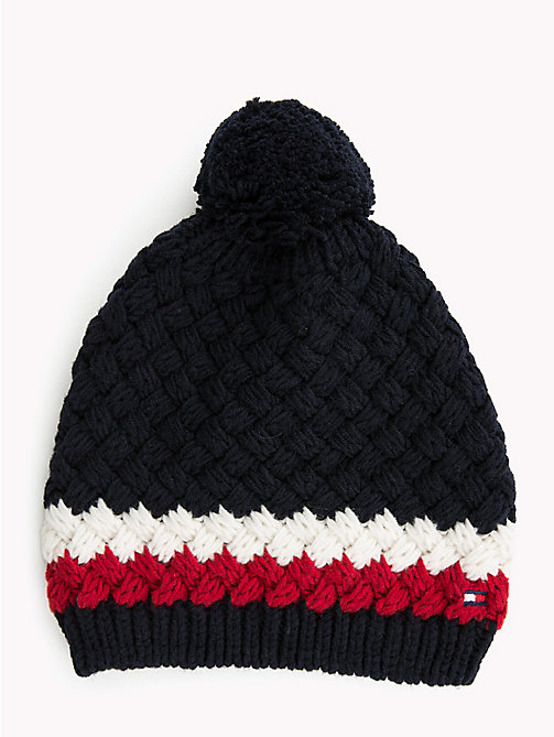 TOMMY HILFIGER Signature Bubble Knit Beanie - CORPORATE - TOMMY HILFIGER Winter Warmers - main image