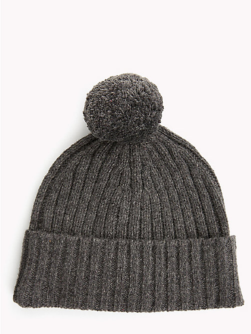 TOMMY HILFIGER Big Flag Knit Beanie - CHARCOAL HTR -  Winter Warmers - detail image 1