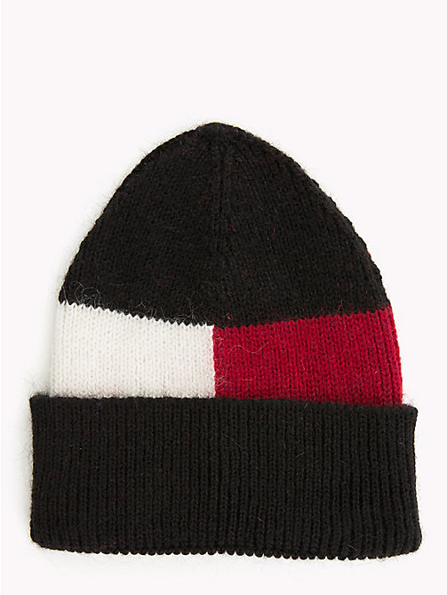 TOMMY HILFIGER Luxury Mohair Flag Beanie - CORPORATE - TOMMY HILFIGER Caps & Beanies - main image