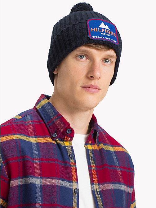 TOMMY HILFIGER New York Badge Beanie - TOMMY NAVY - TOMMY HILFIGER Winter Warmers - detail image 1